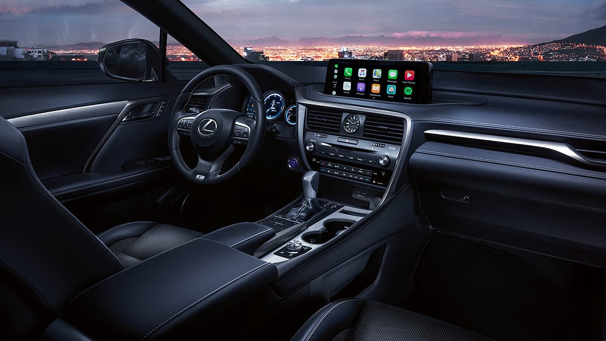 Interior of the 2020 RX 450h