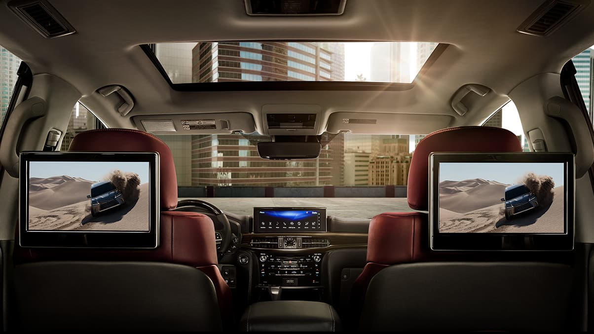 Rear Entertainment System in the 2020 Lexus LX 570