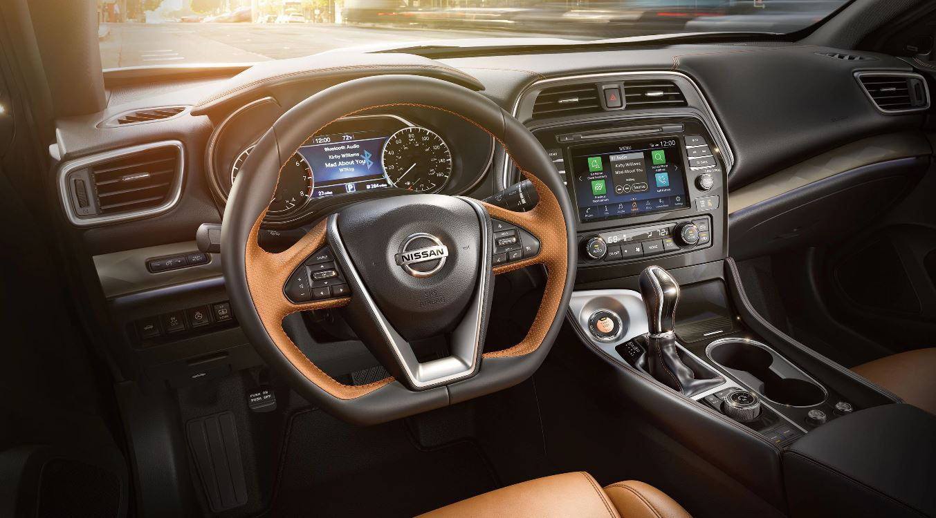 Interior of the 2020 Nissan Maxima