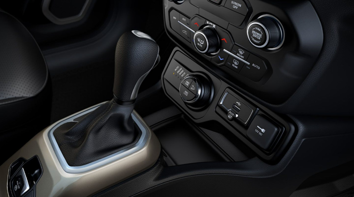 Controls in the 2020 Jeep Renegade