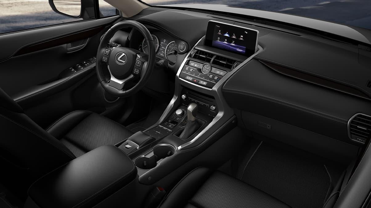 Interior of the 2020 Lexus NX 300