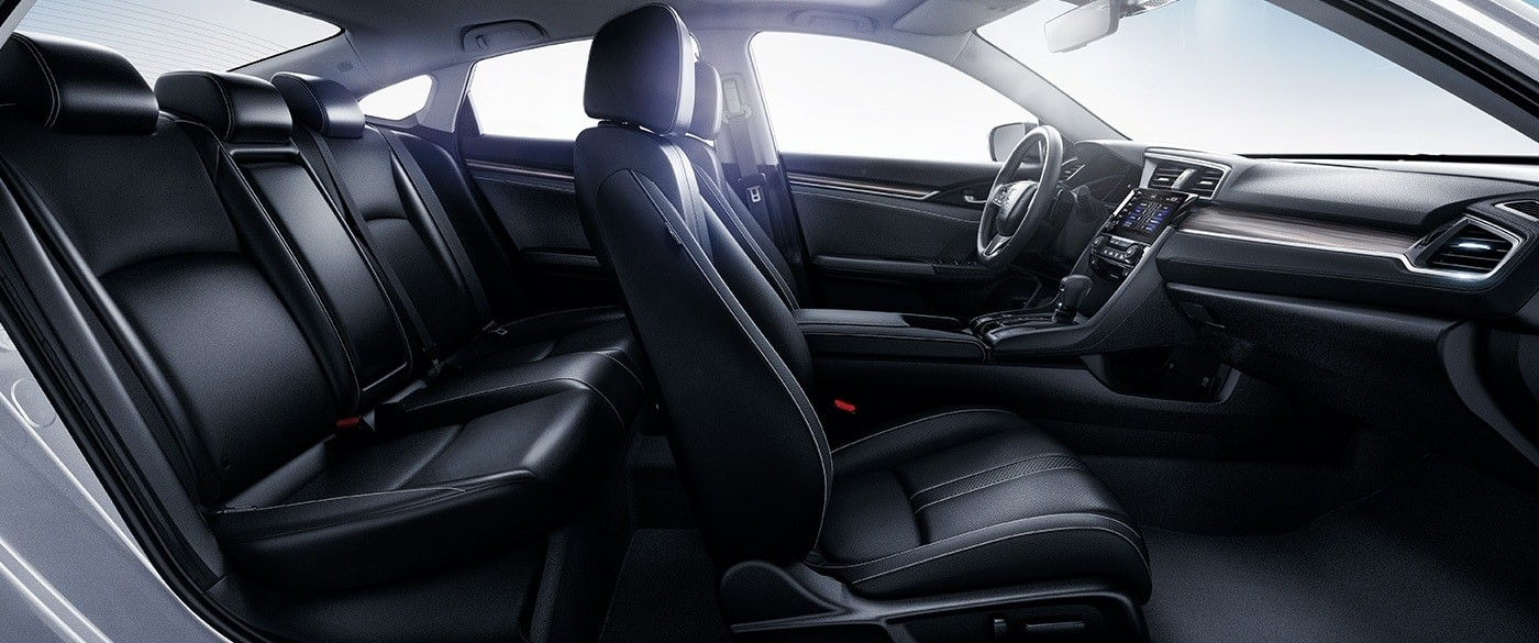 Interior of the 2020 Honda Civic