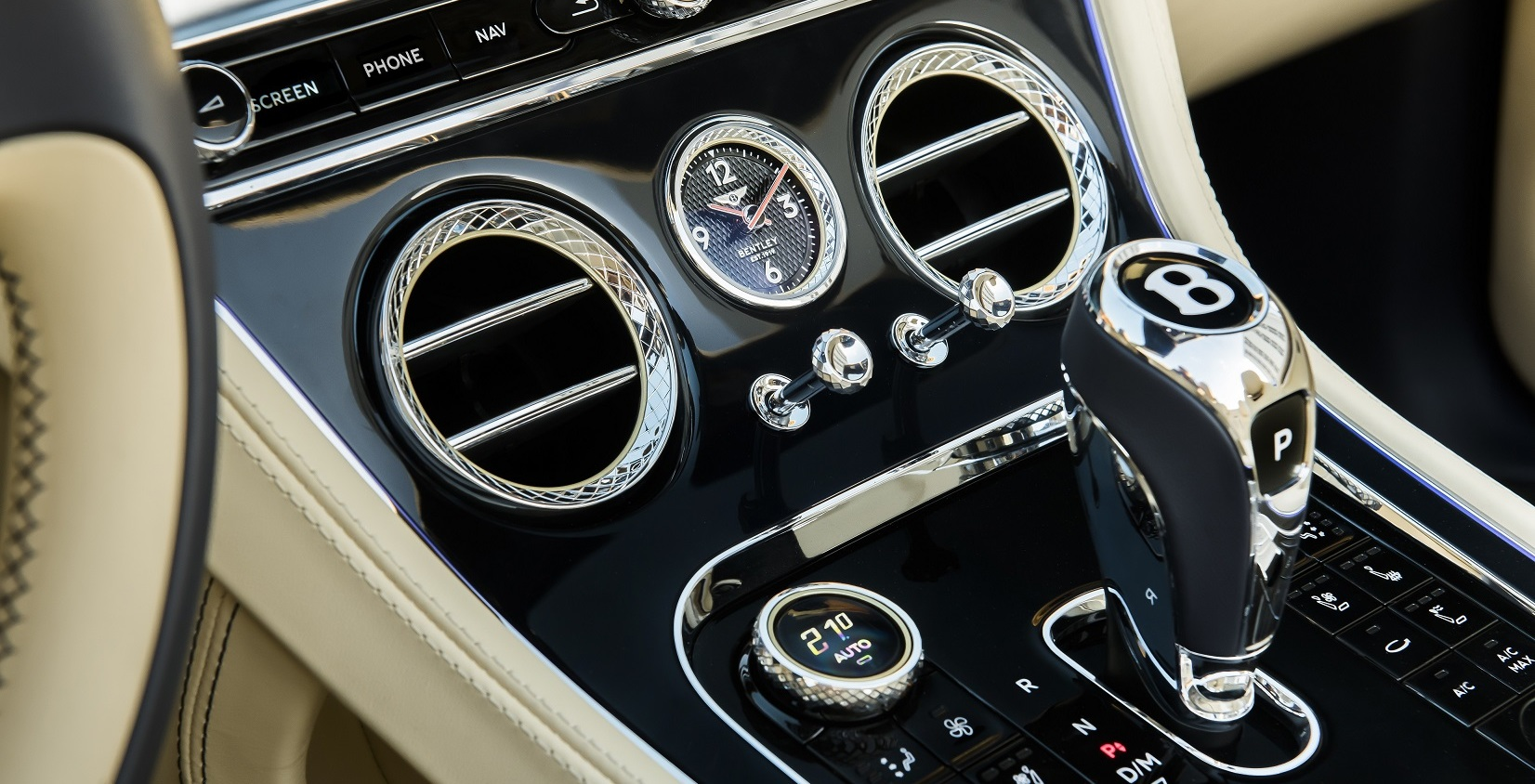 Interior of the 2020 Bentley Continental GT
