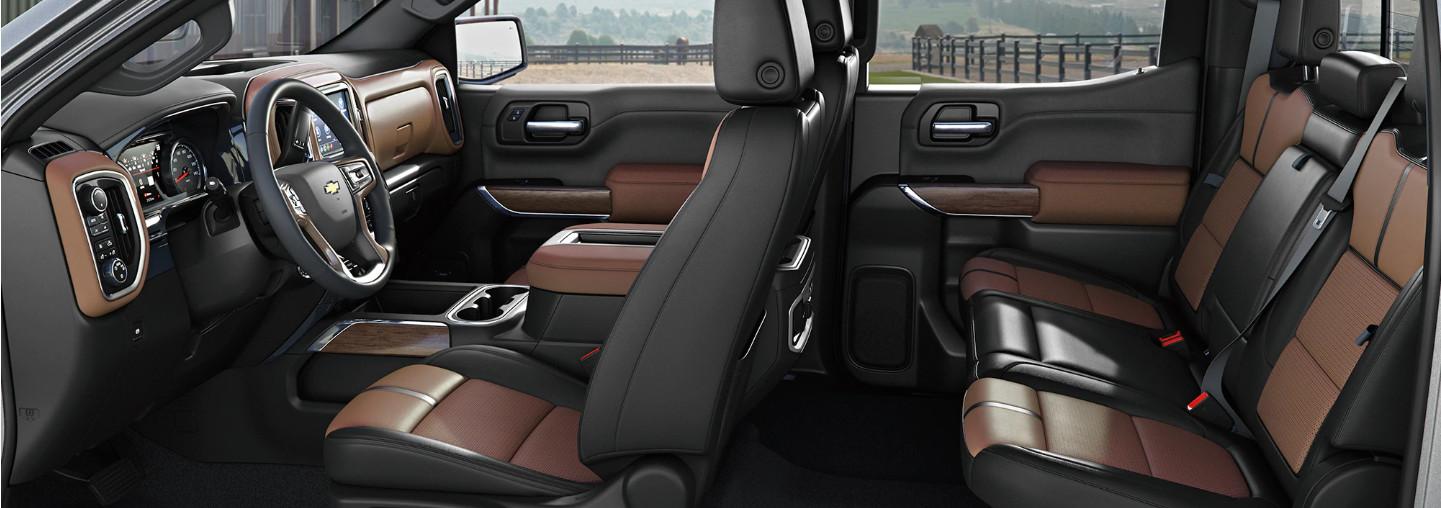 Seating in the 2020 Chevrolet Silverado 1500