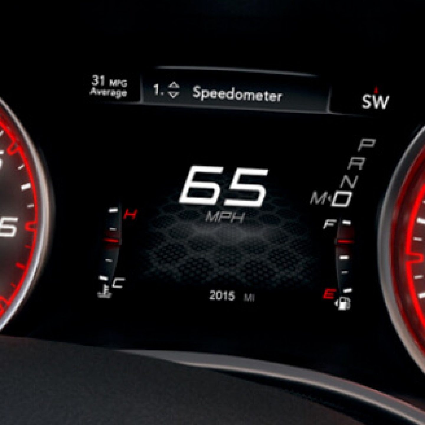 2020 Dodge Charger Available 7-inch Driver Information Digital Cluster Display