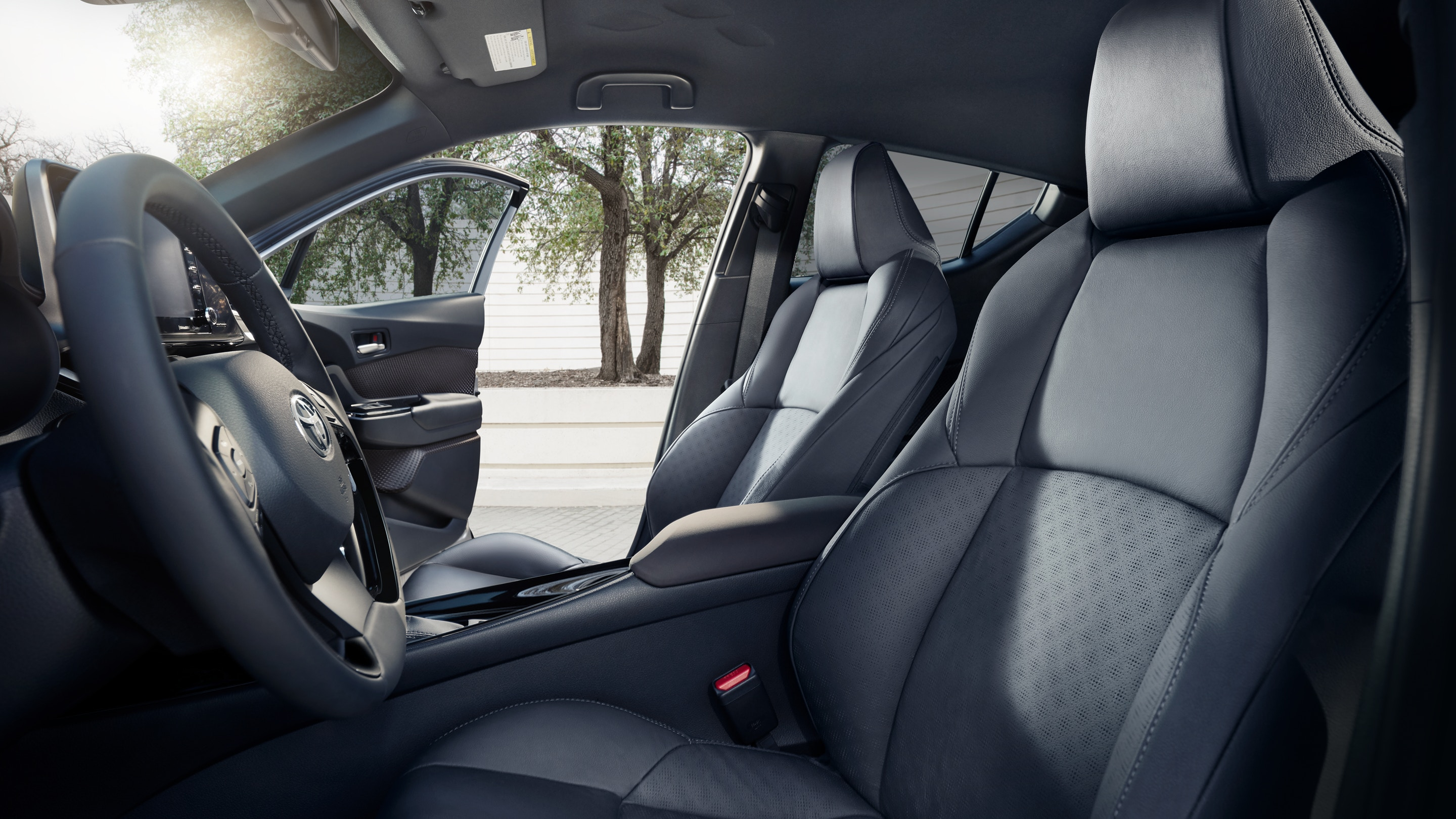 Interior of the 2020 Toyota CH-R