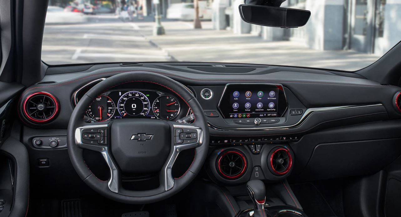Interior of the 2020 Blazer