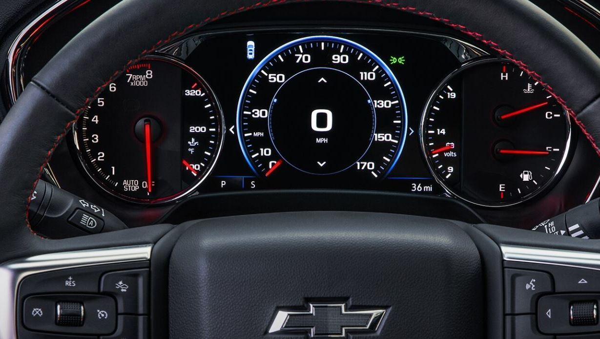 Dashboard of the 2020 Blazer