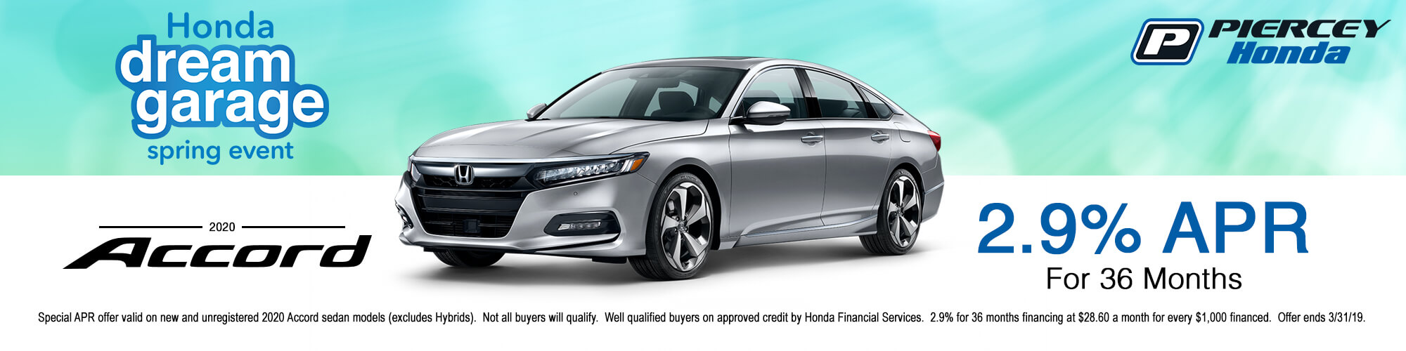 2020 Honda Accord APR Offer