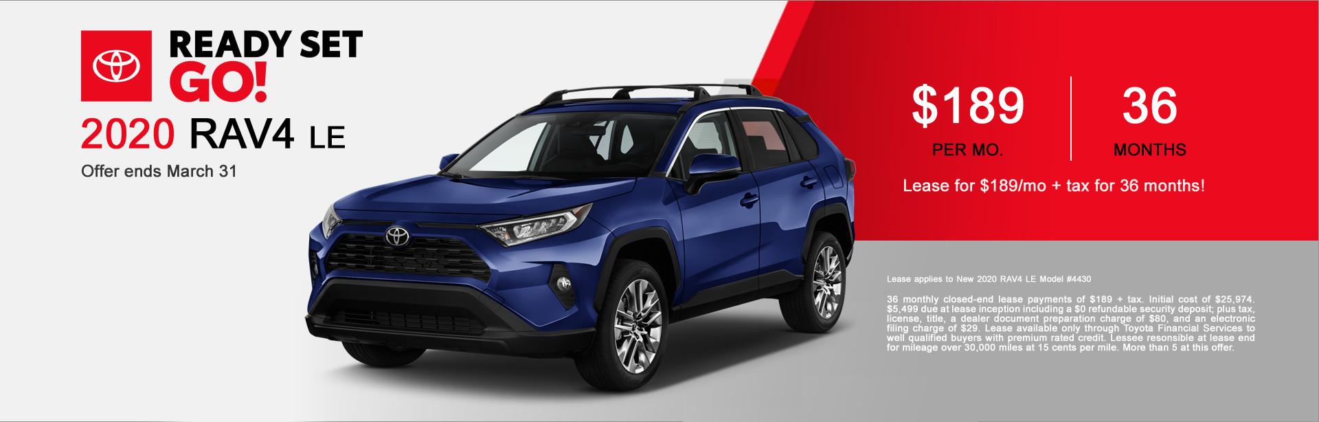 Fremont Toyota RAV4 Lease Special Offer