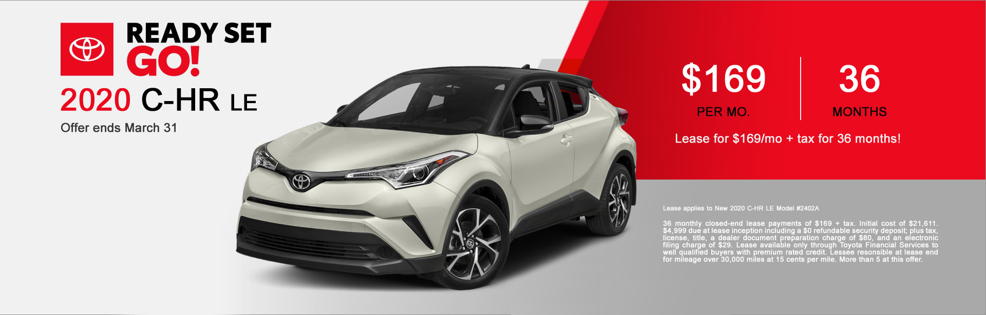 Fremont Toyota C-HR Lease Special Offer