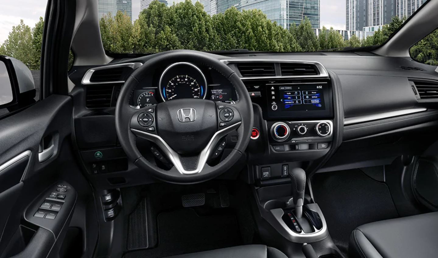 Interior of the 2020 Honda Fit