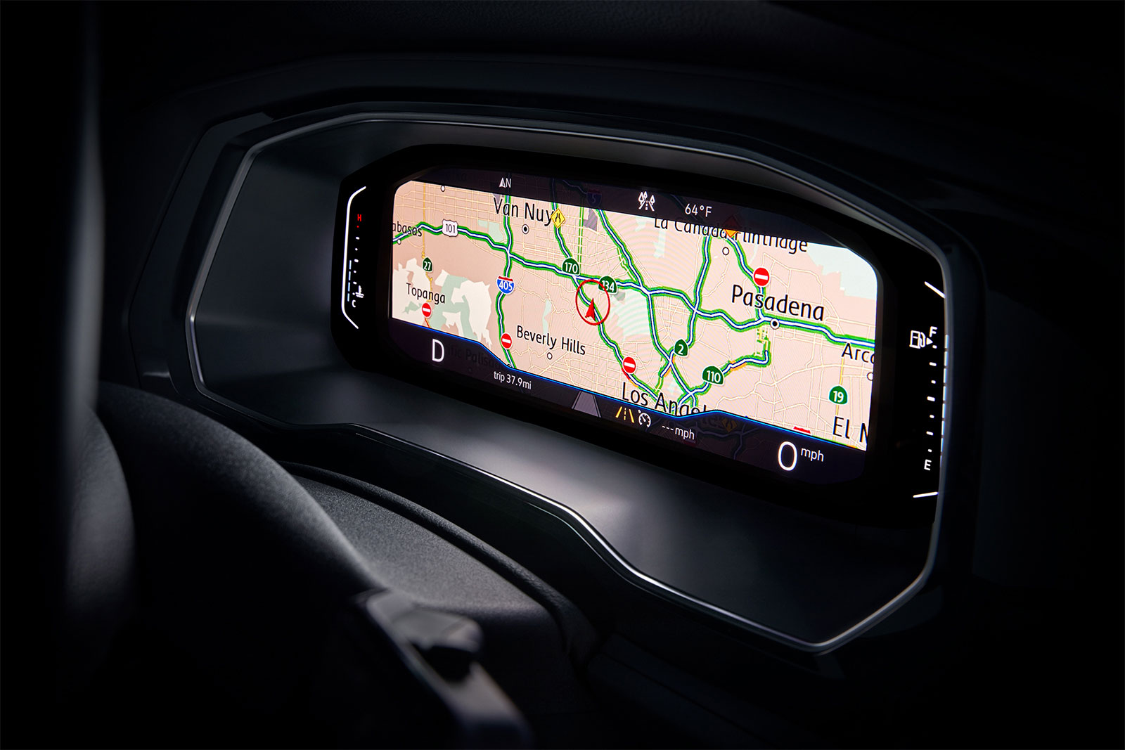 Navigation in the 2020 Jetta