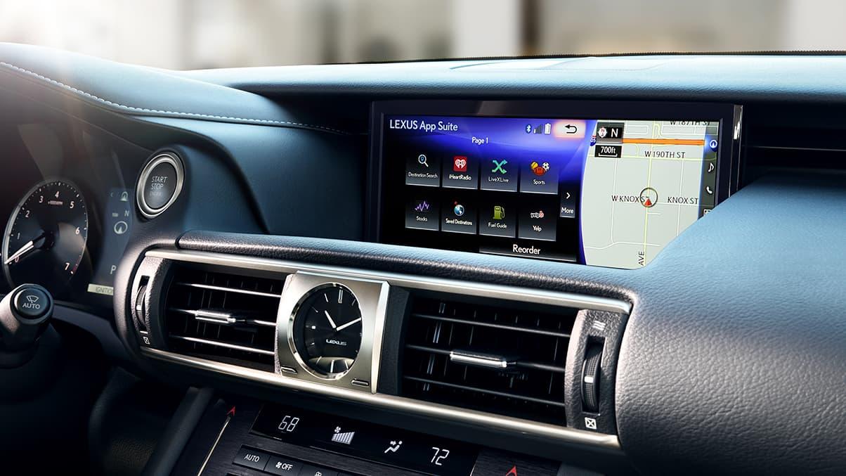 Media Hub in the 2020 Lexus IS 300