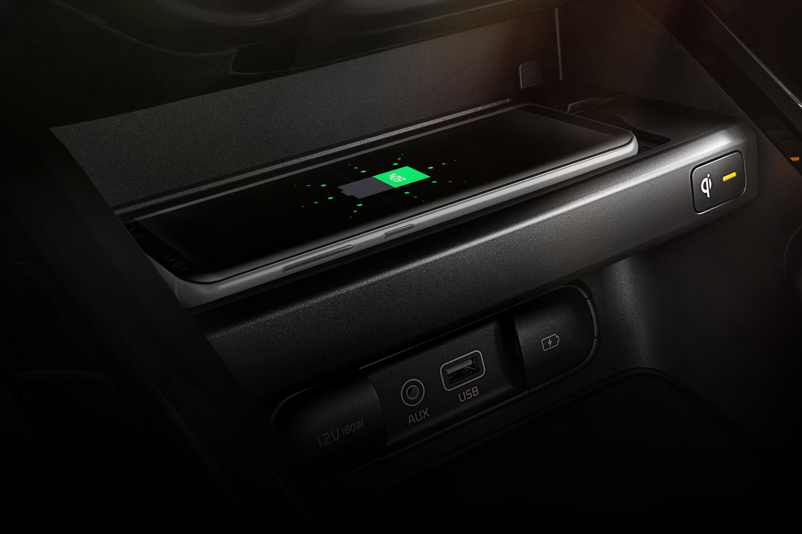 Wireless Phone Charger in the 2020 Kia Forte