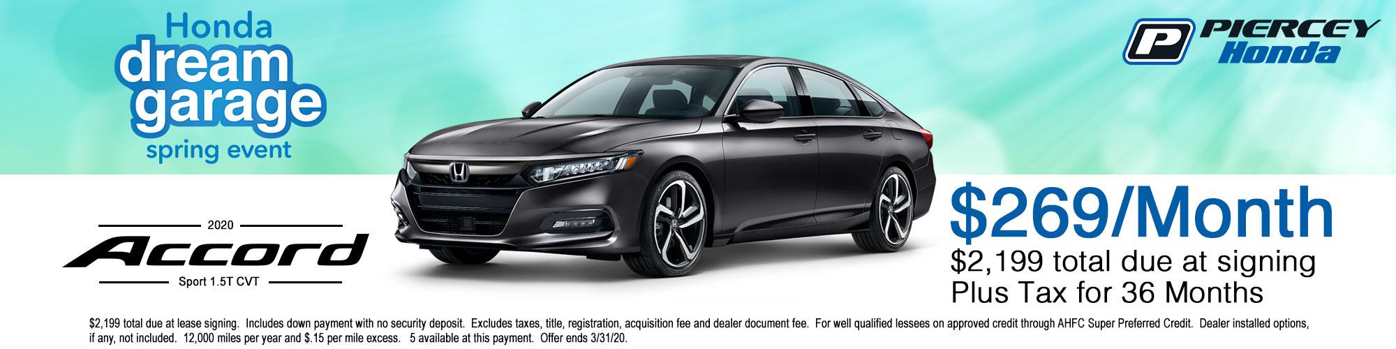 2020 Honda Accord Sport Lease Offer