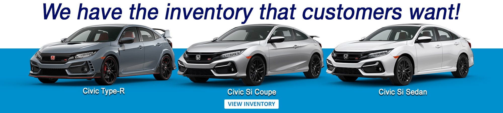 Civic Type-R and Civic Si inventory