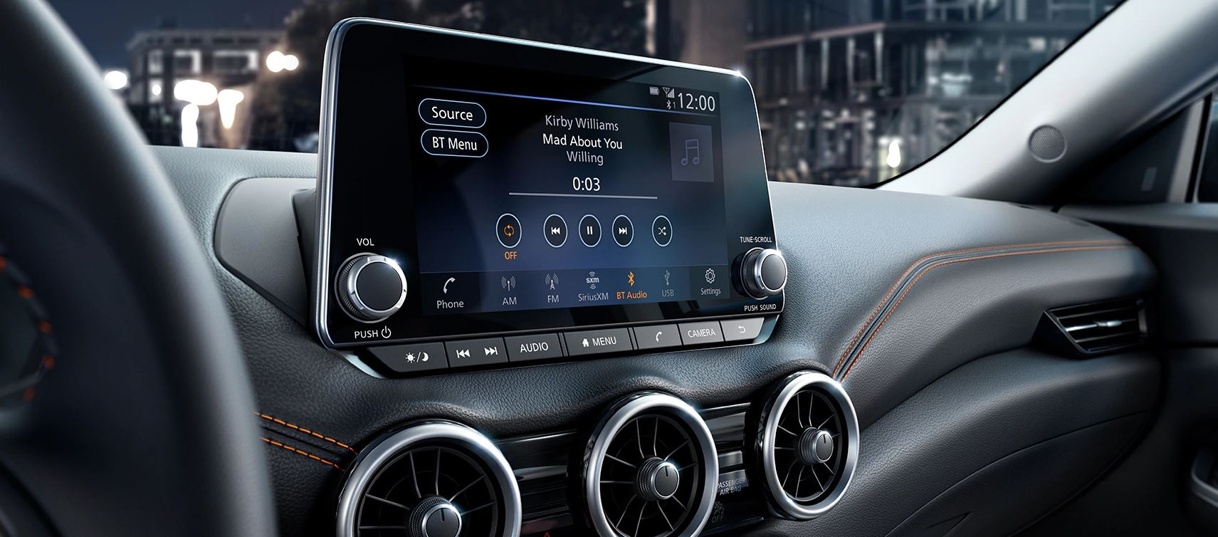 Touchscreen in the 2020 Sentra