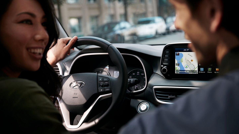 Interior of the 2020 Hyundai Tucson