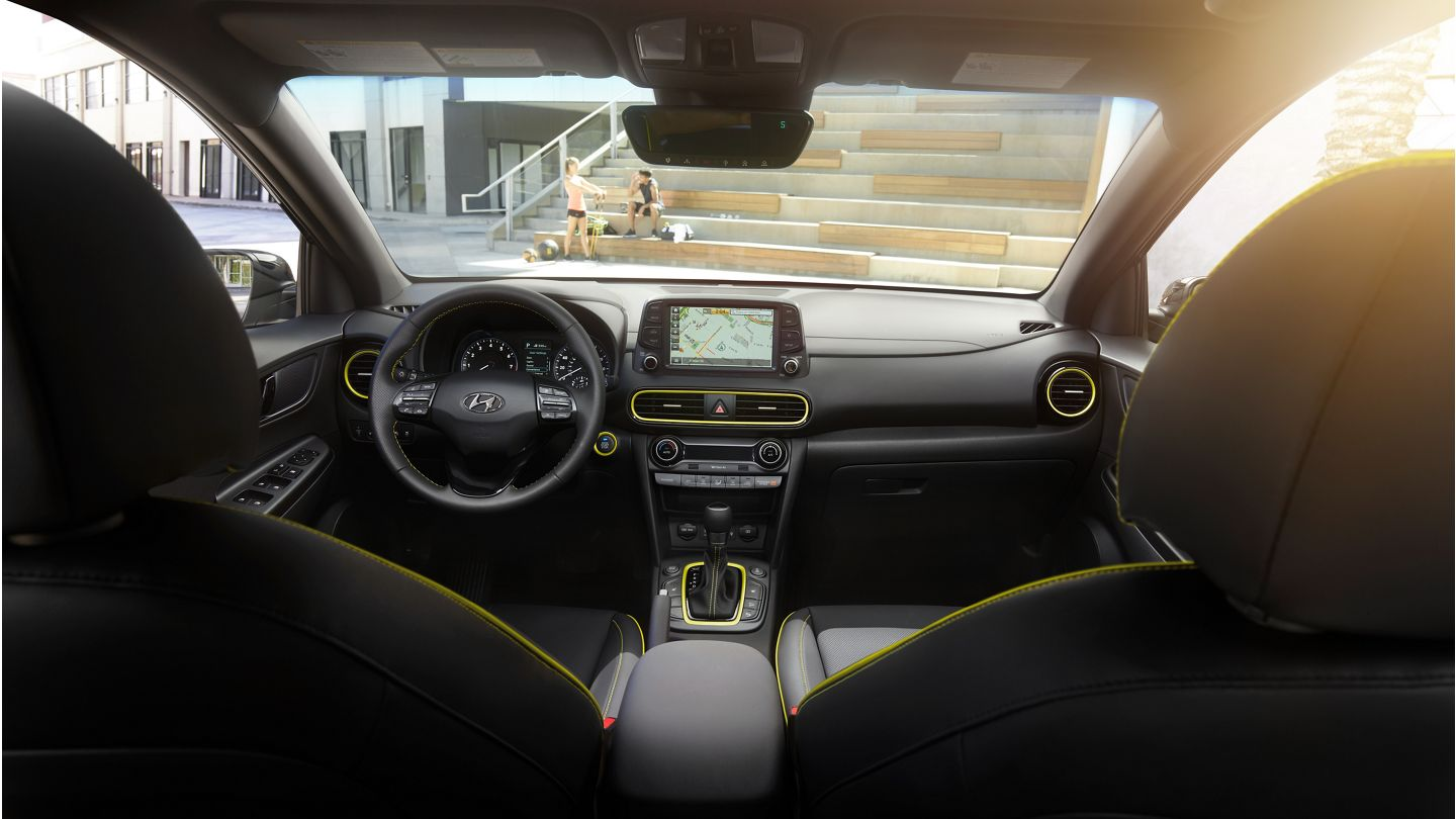 Interior of the 2020 Hyundai Kona