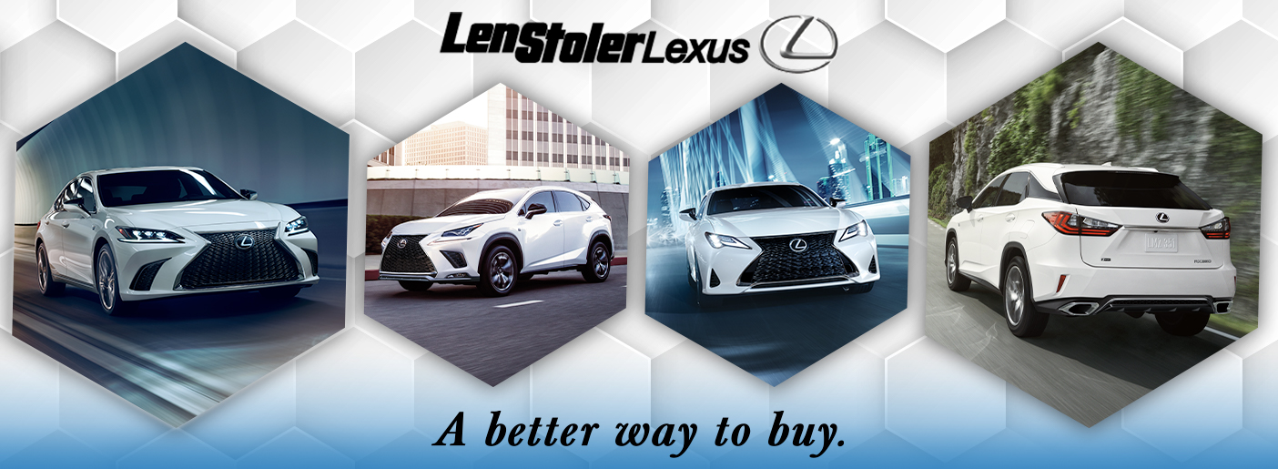 A Message from the Len Stoler Team About COVID-19 | Len Stoler Lexus Store Banner Featuring Four Different Lexus Models