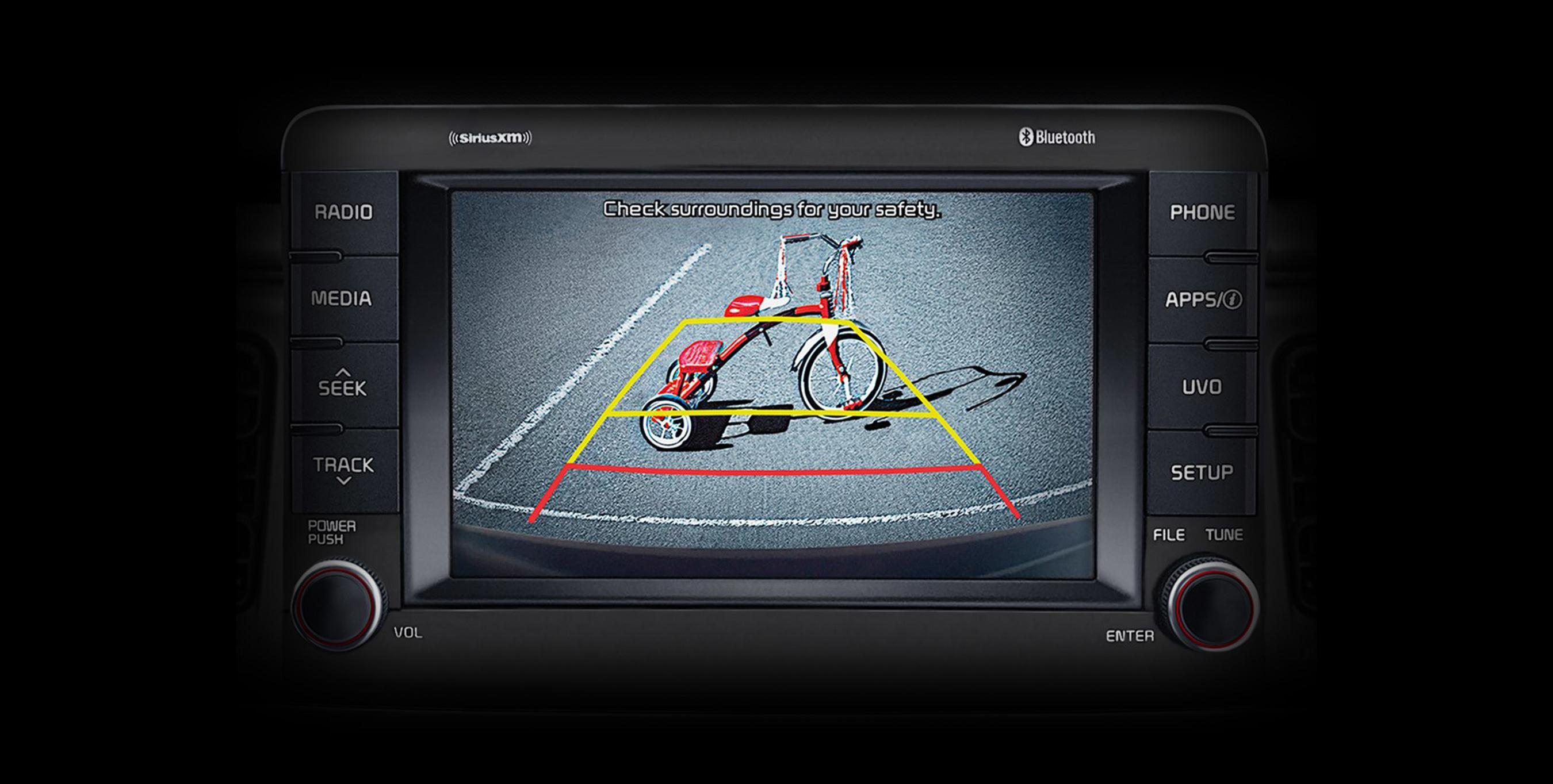 2020 Kia Rio Rear-Camera Display