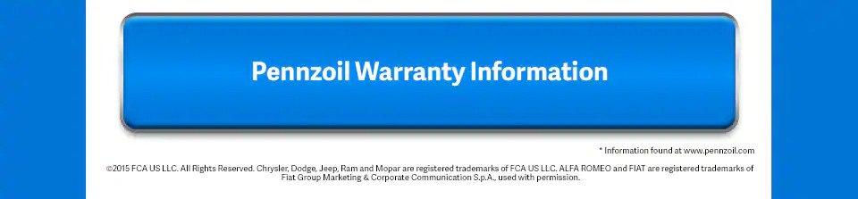Pennzoil Warranty