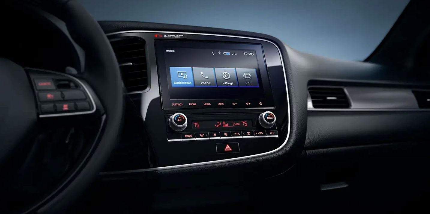 Touchscreen in the 2020 Outlander