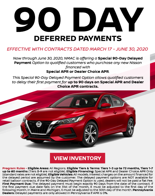 Deery Brothers Nissan of Dubuque 90 Day Deferred Payments