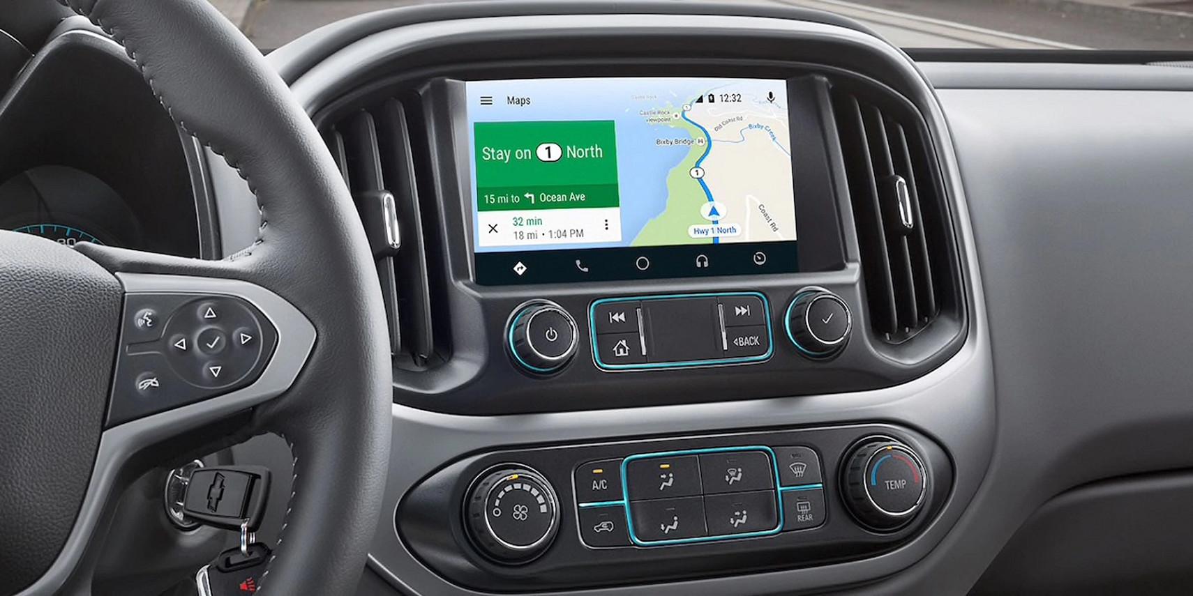 Interior of the 2020 Chevrolet Colorado