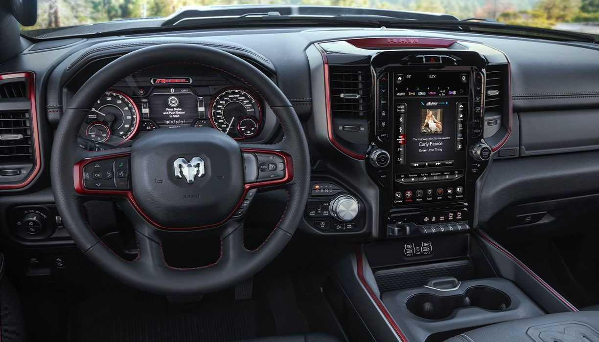 Interior of the 2020 Ram 1500