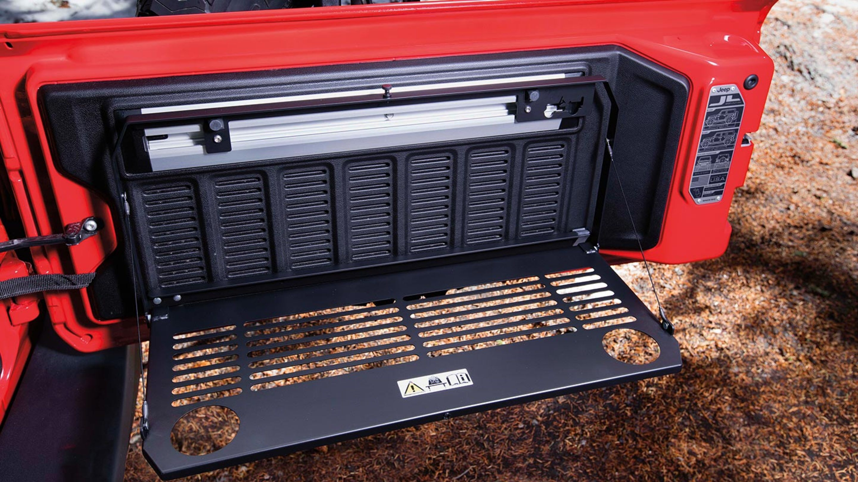 Space for Cargo on the 2020 Wrangler Unlimited