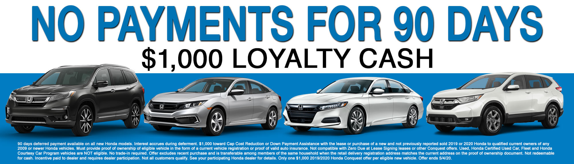 No Payments for 90 Days offer