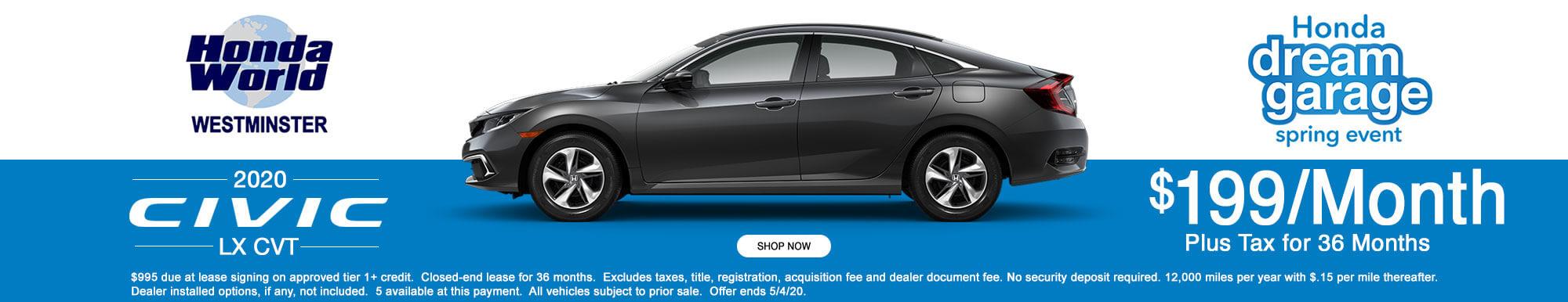 2020 Honda Civic LX Lease Offer