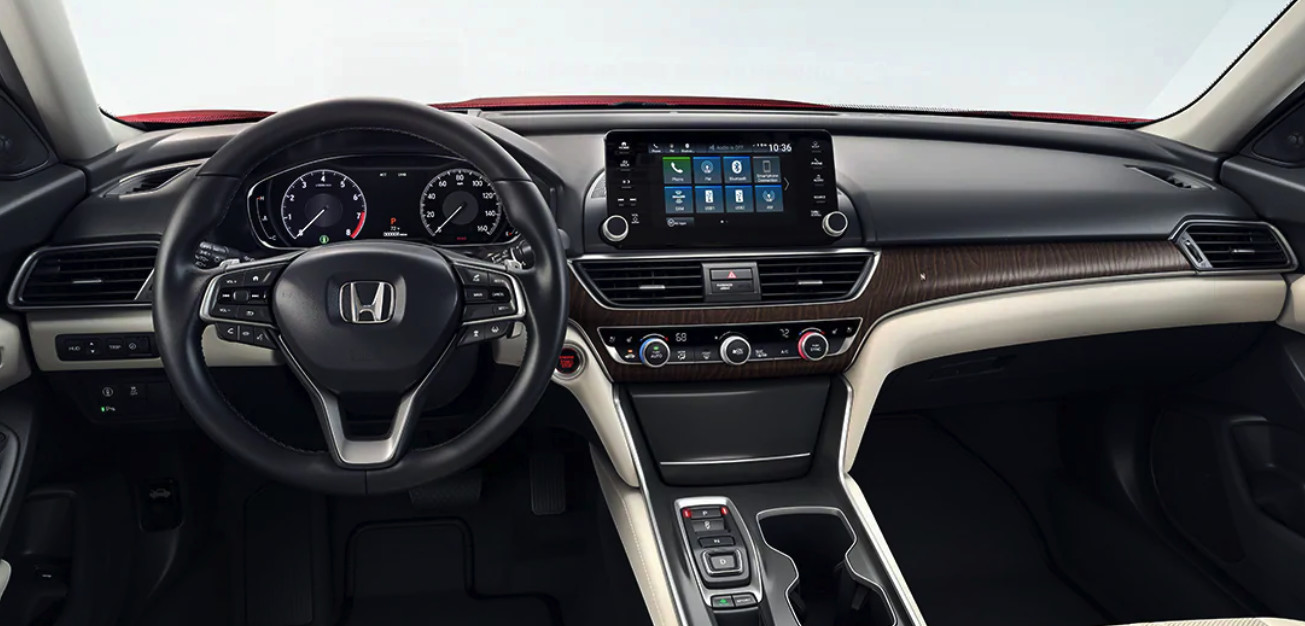 Interior of the 2020 Honda Accord