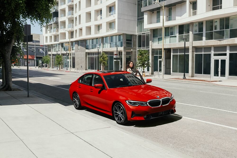 Red BMW Sedan