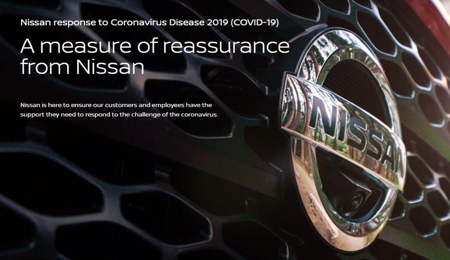 Nissan response to Coronavirus