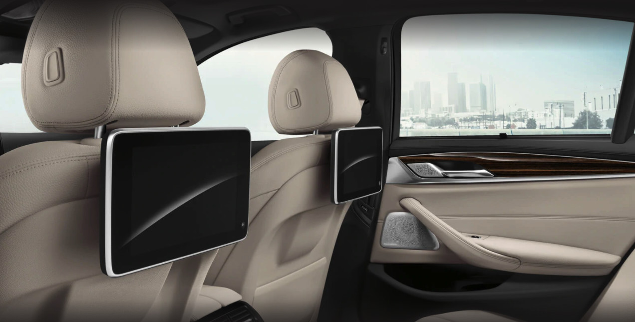 Available Rear Seat Entertainment System in the 2020 BMW 5 Series