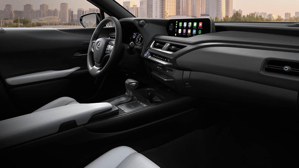 Interior of the 2020 Lexus UX 250h