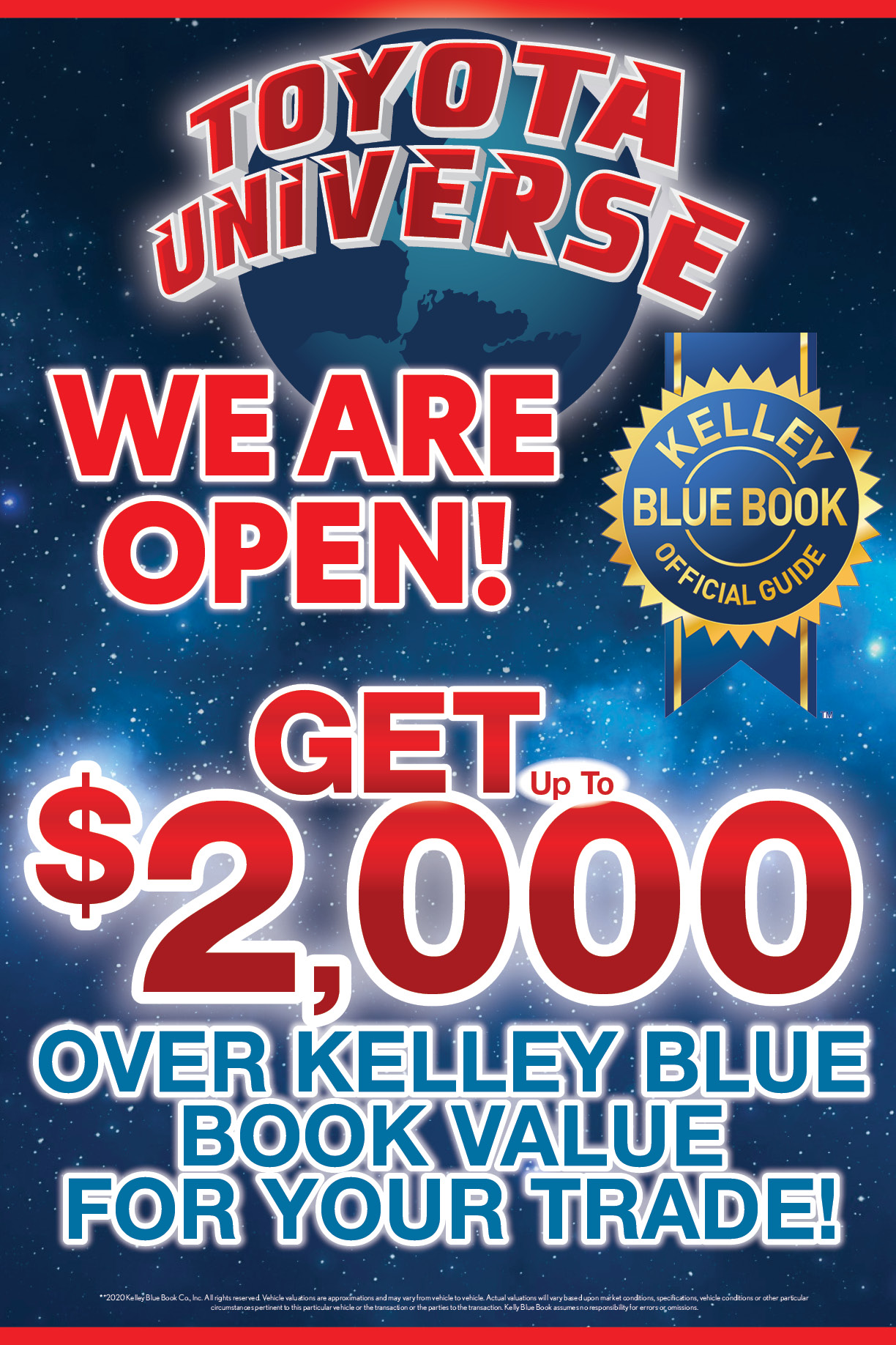 Kelley Blue Book Up To 2000 Over For Your Trade Toyota Universe