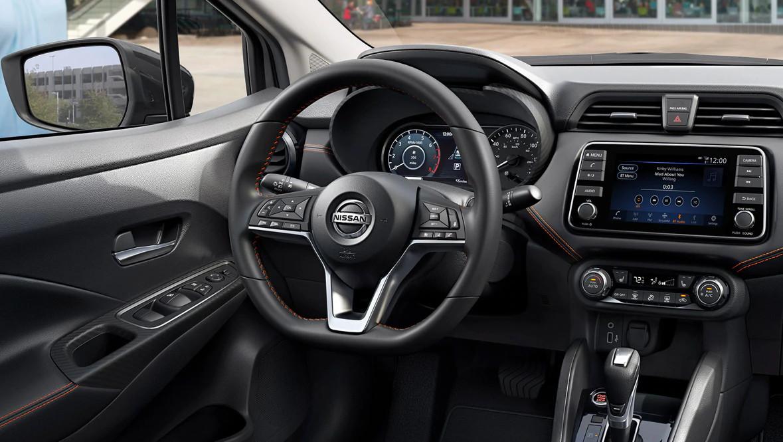 2020 Nissan Versa Leather-Wrapped Steering Wheel