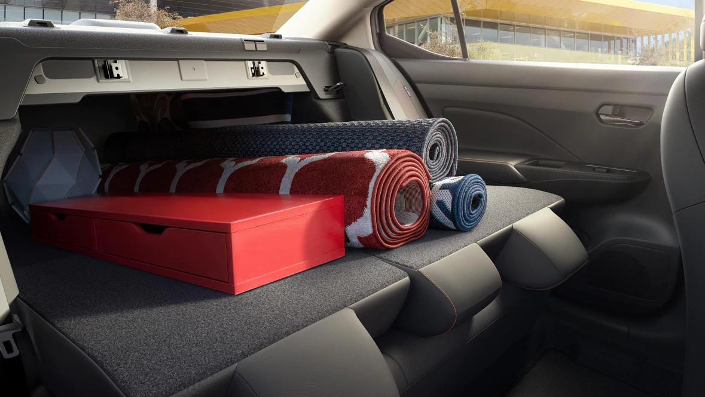 2020 Nissan Versa Available 60/40 Split Fold-Down Rear Seats