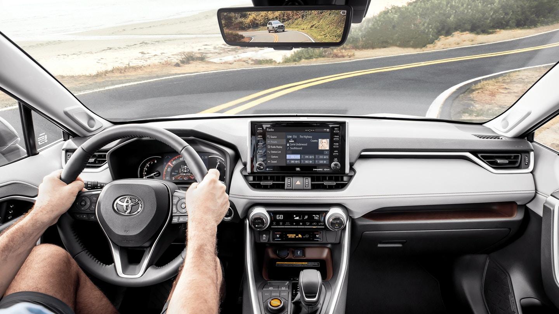 Interior of the 2020 Toyota RAV4