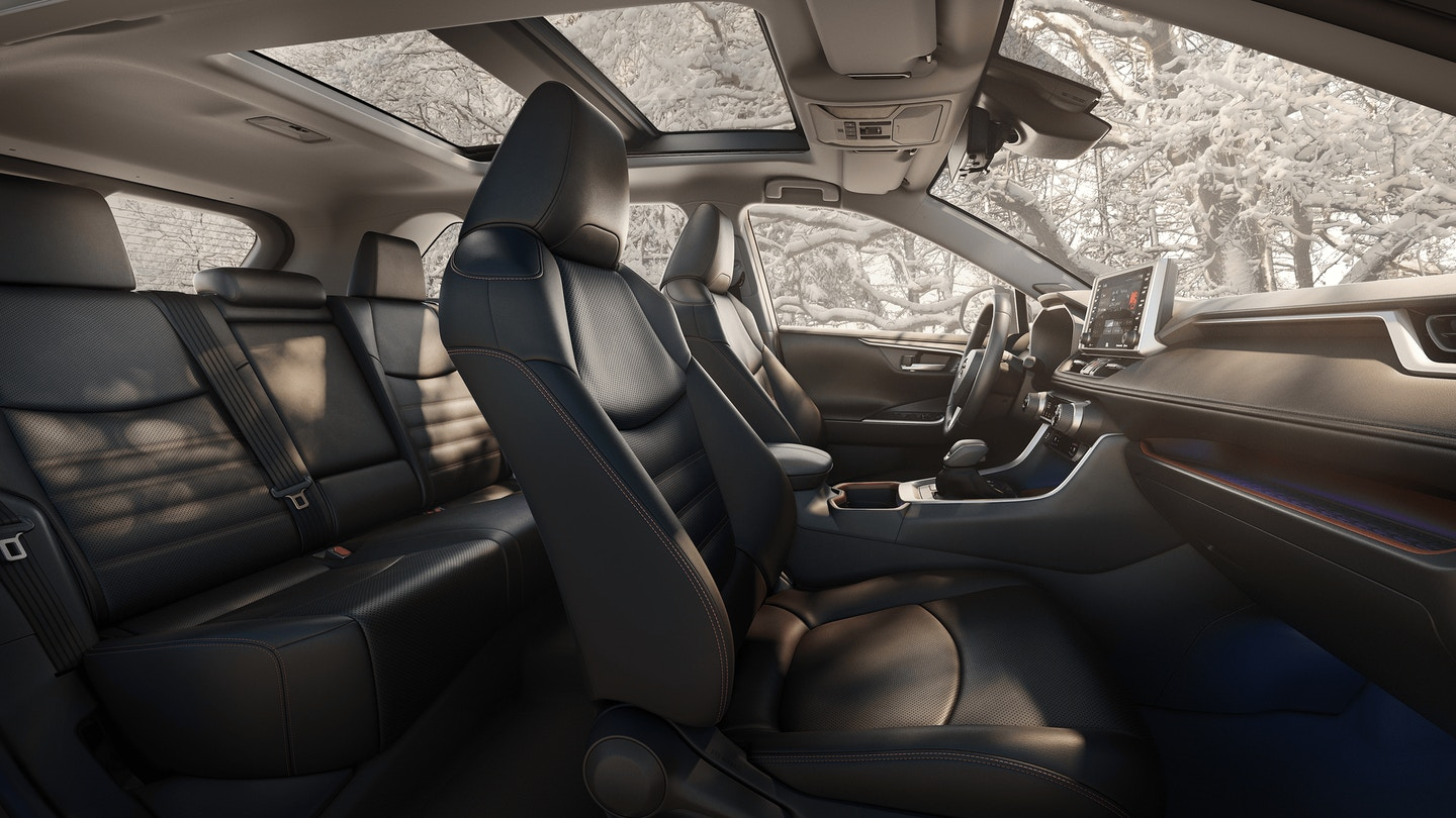Interior of the 2020 Toyota RAV4 Hybrid