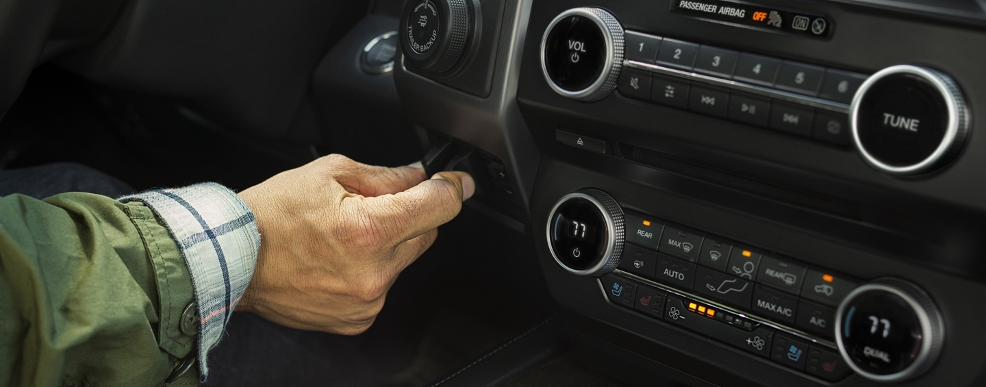 Controls in the 2020 Ford Expedition