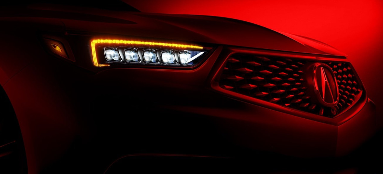 Front Grille of the 2020 Acura TLX