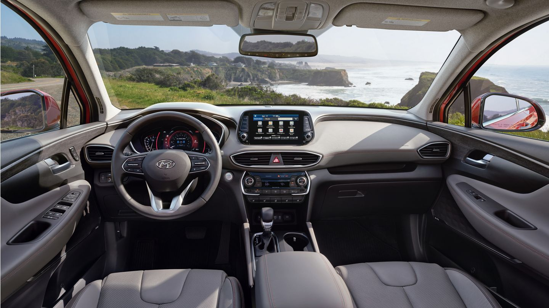 Interior of the 2020 Hyundai Santa Fe