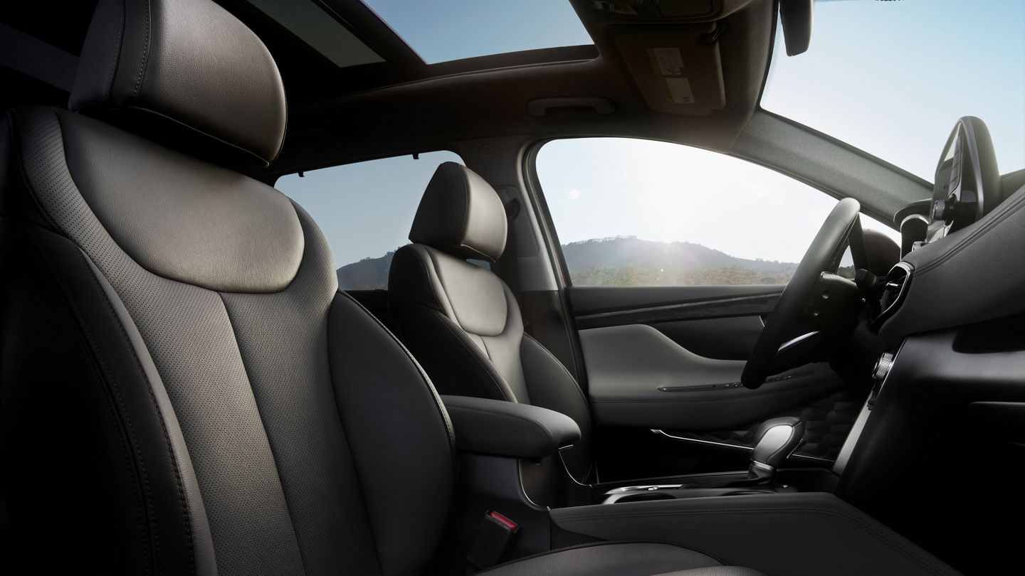 Leather Upholstery in the 2020 Santa Fe