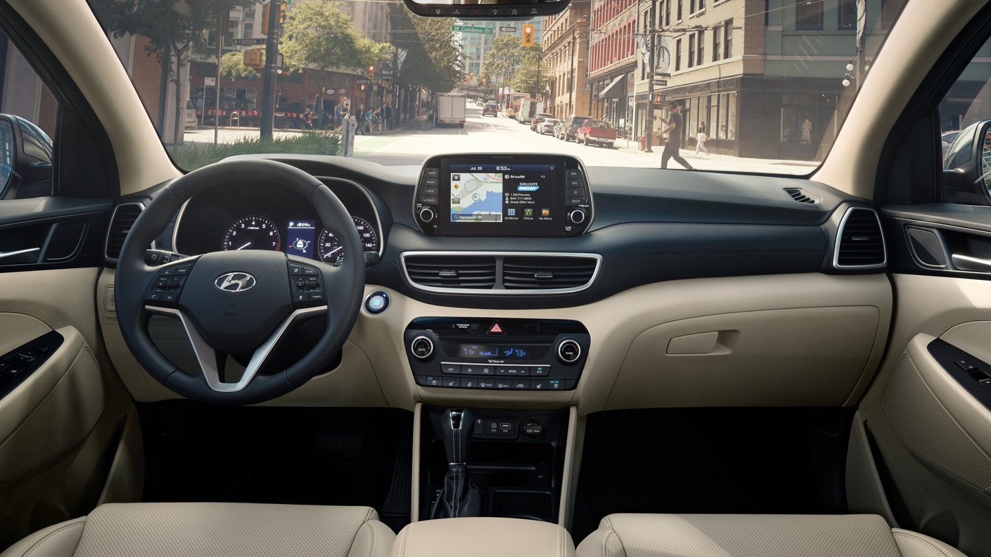 Interior of the 2020 Hyundai Tucson