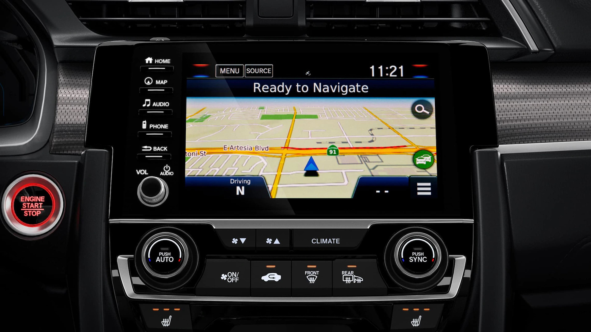 2020 Civic with Available Navigation